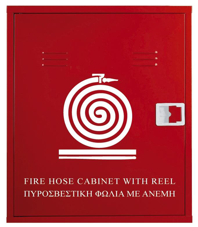 Fire hose cabinets, fire tool stations and relevant equipment